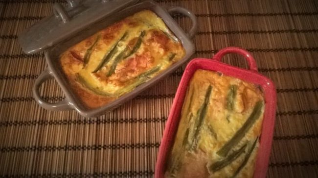 Clafoutis haricots verts bacon