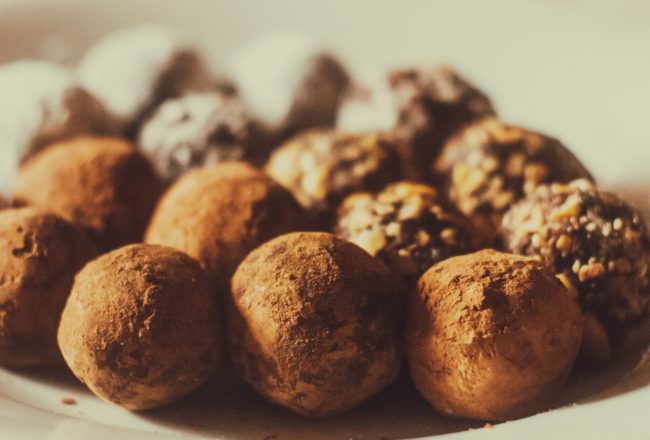 Truffes haricots rouges chocolat