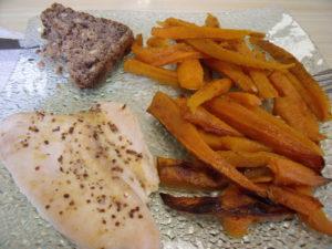 Poulet patate douce carottes