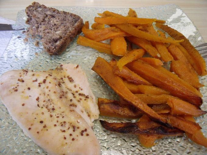 Poulet en papillote patate douce carottes